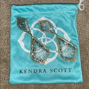 RARE Kendra Scott Adela Drop Earrings Gold/Silver